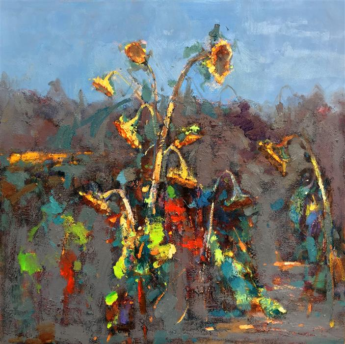 Discover Original Art by Jingshen You | Sunflowers 205 oil painting | Art for Sale Online at UGallery
