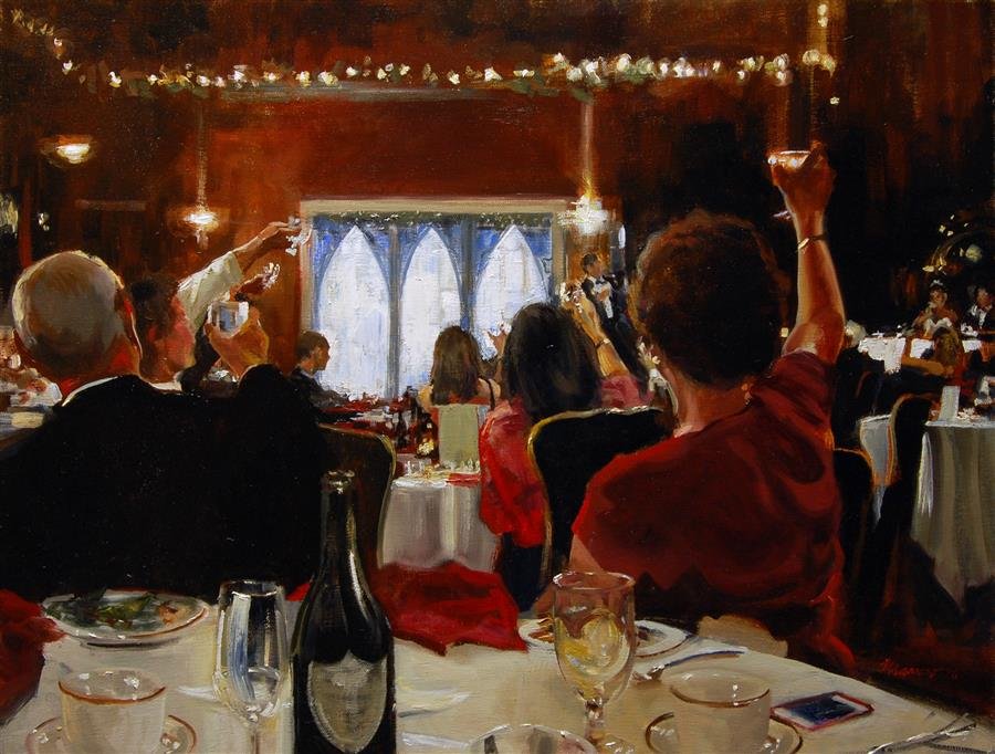 Discover Original Art by Onelio Marrero | Wedding Toast oil painting | Art for Sale Online at UGallery