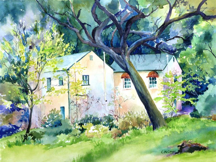 Discover Original Art by Catherine McCargar | Hidden Villa II watercolor painting | Art for Sale Online at UGallery