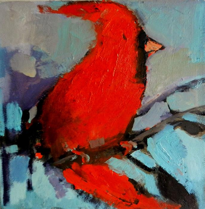 Discover Original Art by Mary Pratt | Little Red oil painting | Art for Sale Online at UGallery