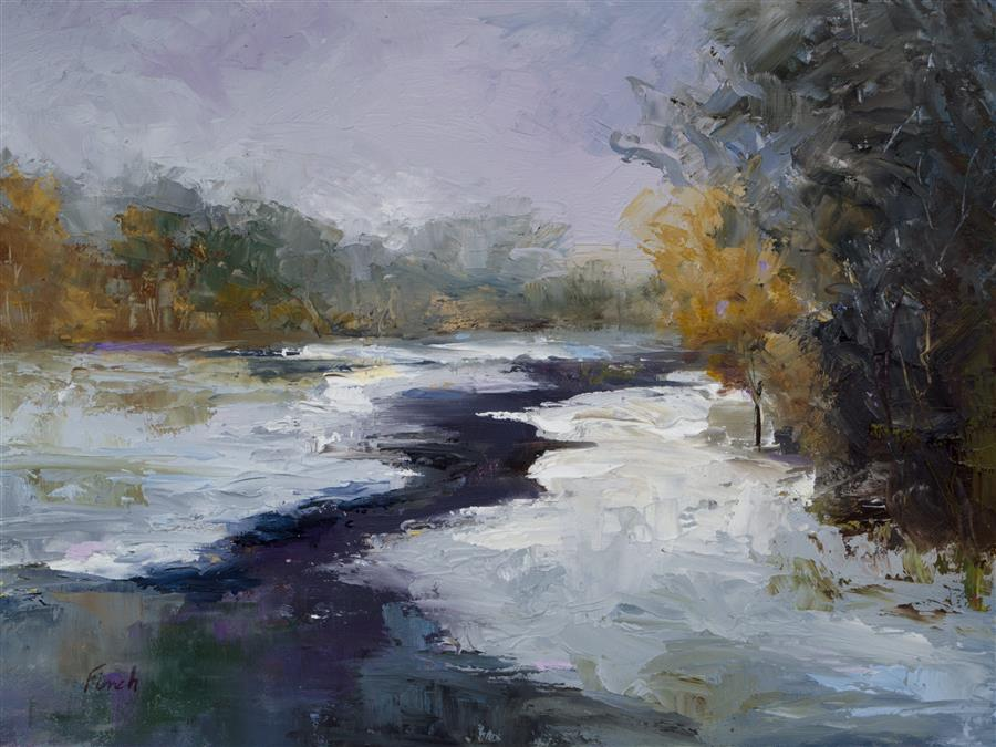 Discover Original Art by Sheila Finch | Fresh Snow oil painting | Art for Sale Online at UGallery