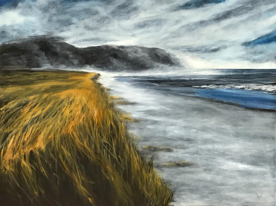 Discover Original Art by Mandy Main | Dune Grass II oil painting | Art for Sale Online at UGallery