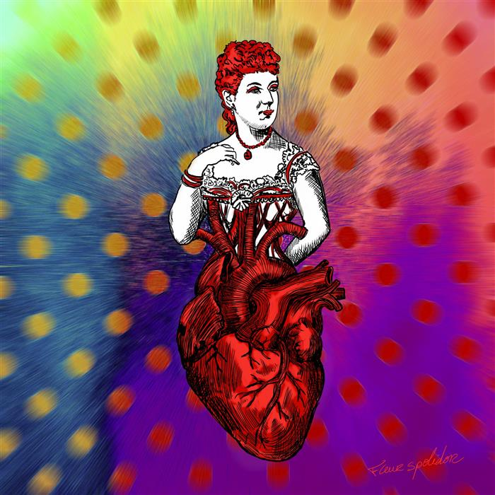 Discover Original Art by Fleur Spolidor | Queen of Heart digital printmaking | Art for Sale Online at UGallery