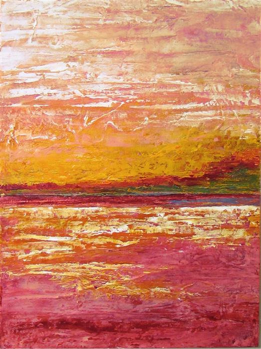 Discover Original Art by Valerie Berkely   Strawberry Mango oil painting   Art for Sale Online at UGallery