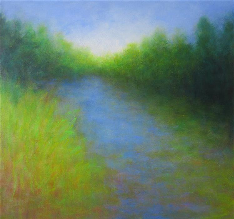 Discover Original Art by Victoria Veedell | On the Shore July oil painting | Art for Sale Online at UGallery