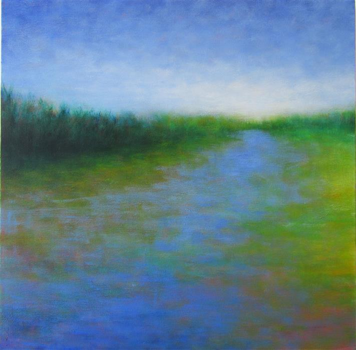 Discover Original Art by Victoria Veedell | Following the Flow oil painting | Art for Sale Online at UGallery