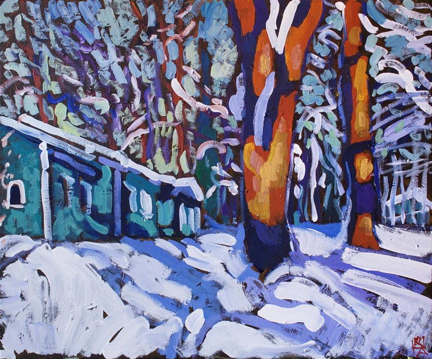 Discover Original Art by Robert Hofherr | Snowbound acrylic painting | Art for Sale Online at UGallery