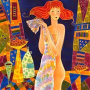 Fantasy art,Nudes art,Representational art,mixed media artwork,Cherry Vine