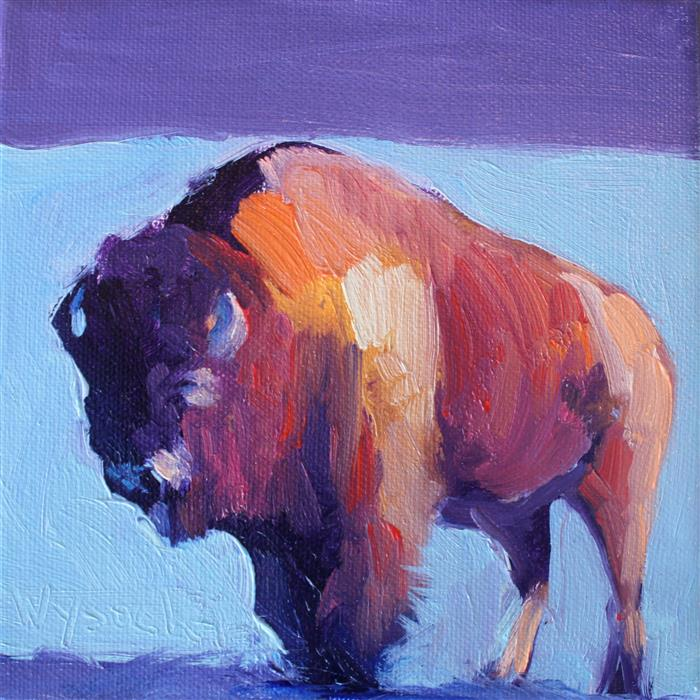 Discover Original Art by Stephen Wysocki | Sunny Day Buffalo oil painting | Art for Sale Online at UGallery
