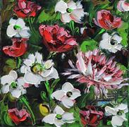 Nature art,Flora art,Representational art,oil painting,Delicate Spring