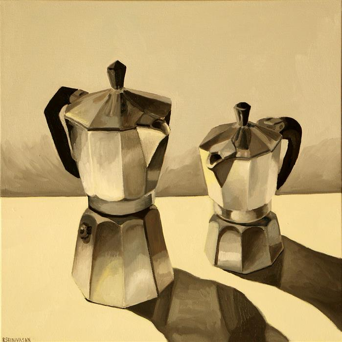 Discover Original Art by Rachel Srinivasan | Simple Espresso oil painting | Art for Sale Online at UGallery
