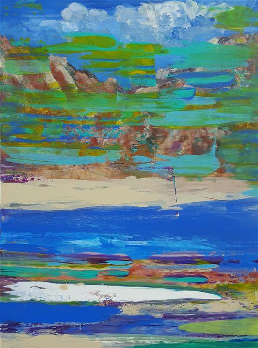 Discover Original Art by Robert Morrow | Transition acrylic painting | Art for Sale Online at UGallery