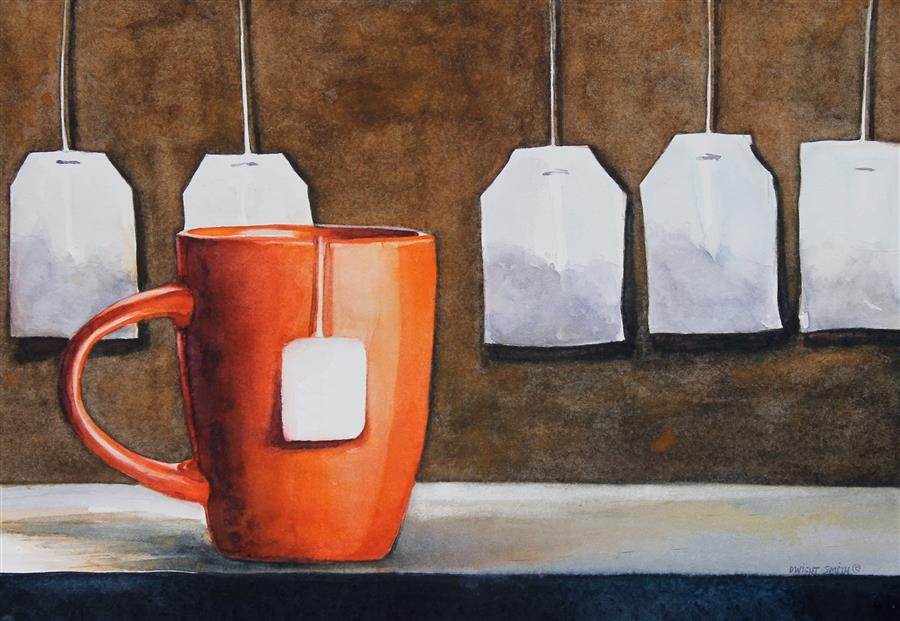 Discover Original Art by Dwight Smith | First Cup watercolor painting | Art for Sale Online at UGallery