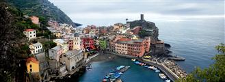 Discover Original Art by Maxwell Koepke | Cinque Terre Panorama - Vernazza photography | Art for Sale Online at UGallery