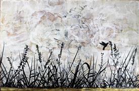 Nature art,Flora art,Representational art,Vintage art,encaustic artwork,Sunday Morning