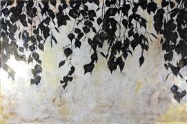 Nature art,Flora art,Representational art,Vintage art,encaustic artwork,Hanging Garden