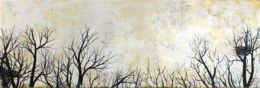 Landscape art,Nature art,Representational art,Vintage art,encaustic artwork,Wishing for More Time