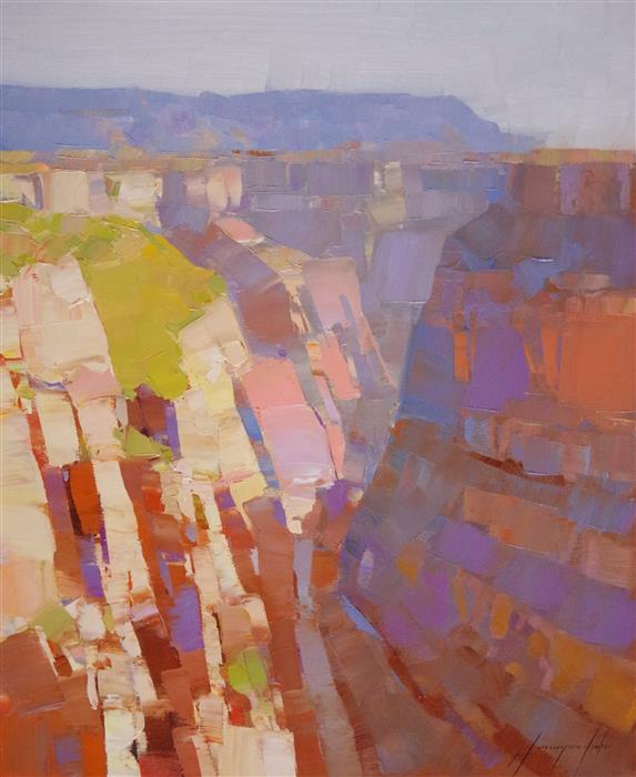 Discover Original Art by Vahe Yeremyan | Grand Canyon Impression oil painting | Art for Sale Online at UGallery