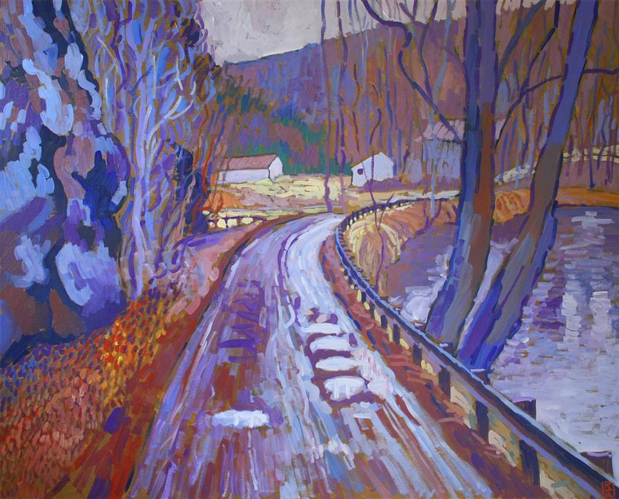 Discover Original Art by Robert Hofherr | Wet November Day acrylic painting | Art for Sale Online at UGallery