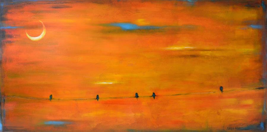 Discover Original Art by Sally Adams | October Sky acrylic painting | Art for Sale Online at UGallery