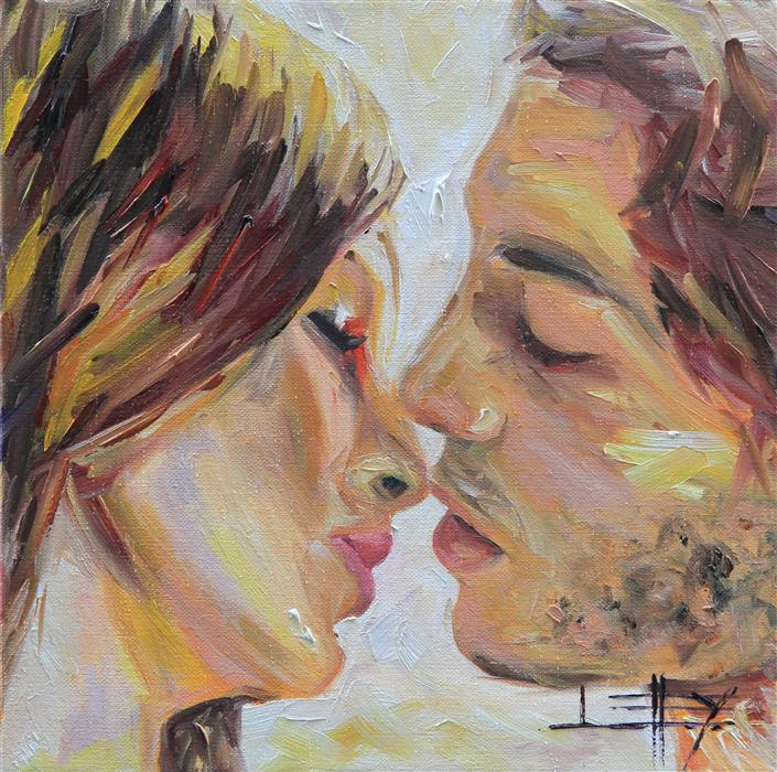 Discover Original Art by Lisa Elley | Love Story oil painting | Art for Sale Online at UGallery