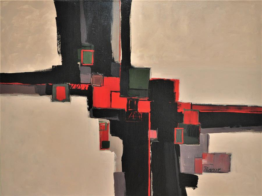 Discover Original Art by Robert Pennor | Red Keys acrylic painting | Art for Sale Online at UGallery