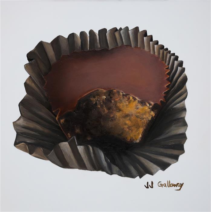 Discover Original Art by JJ Galloway | Peanut Butter Cup oil painting | Art for Sale Online at UGallery