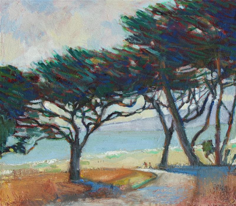 Discover Original Art by James Hartman | Half Moon Bay Coastal Trail oil painting | Art for Sale Online at UGallery