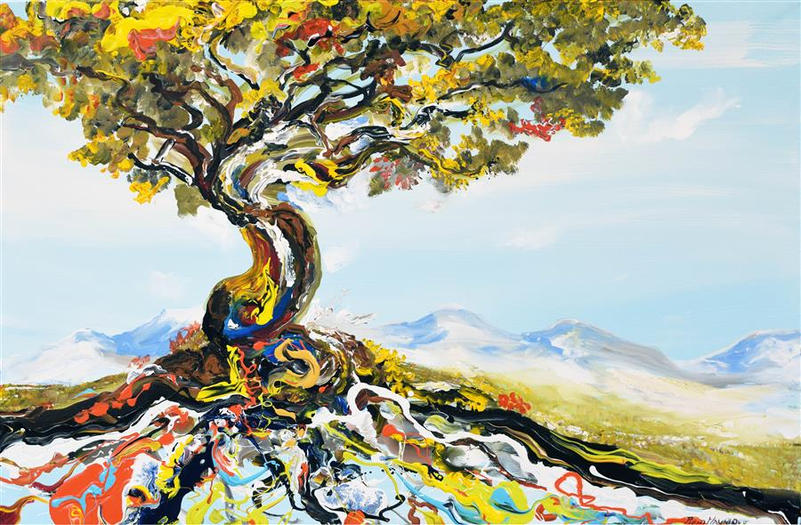 Discover Original Art by Piero Manrique   Flair Tree acrylic painting   Art for Sale Online at UGallery