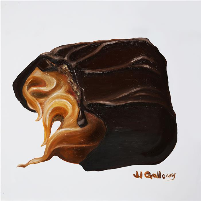 Discover Original Art by JJ Galloway | Butter Cream Caramel Candy oil painting | Art for Sale Online at UGallery