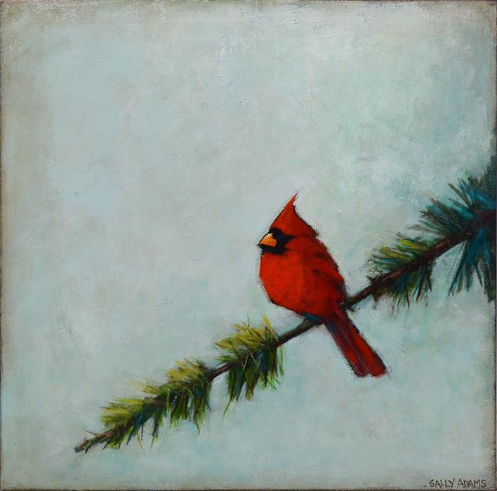 Discover Original Art by Sally Adams | Red Friend acrylic painting | Art for Sale Online at UGallery