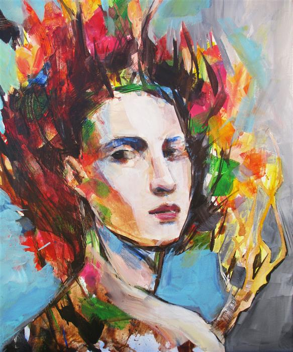 Discover Original Art by Victoria Bearden | Tree Woman acrylic painting | Art for Sale Online at UGallery