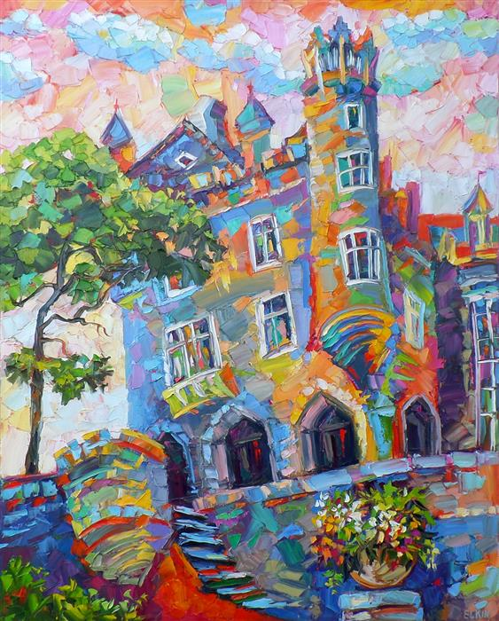 Discover Original Art by Elizabeth Elkin | Casa Loma oil painting | Art for Sale Online at UGallery