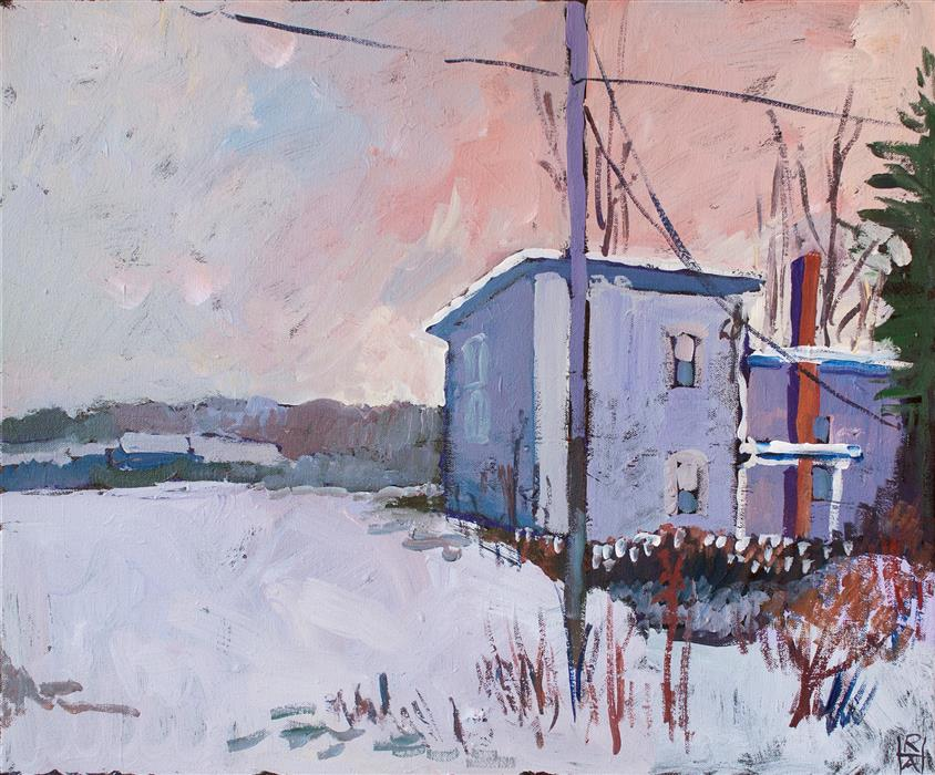 Discover Original Art by Robert Hofherr | Cold Afternoon acrylic painting | Art for Sale Online at UGallery