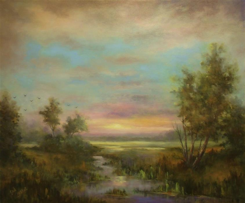 Discover Original Art by Gail Greene | Shades of Evening oil painting | Art for Sale Online at UGallery