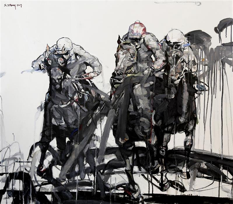 Discover Original Art by Shao Yuan Zhang | The Derby oil painting | Art for Sale Online at UGallery