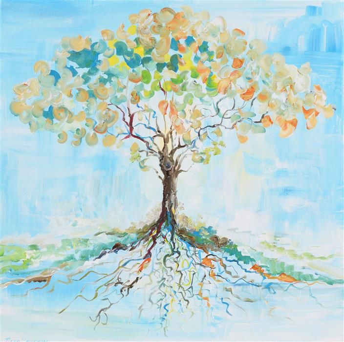 Discover Original Art by Piero Manrique   Candy Tree acrylic painting   Art for Sale Online at UGallery