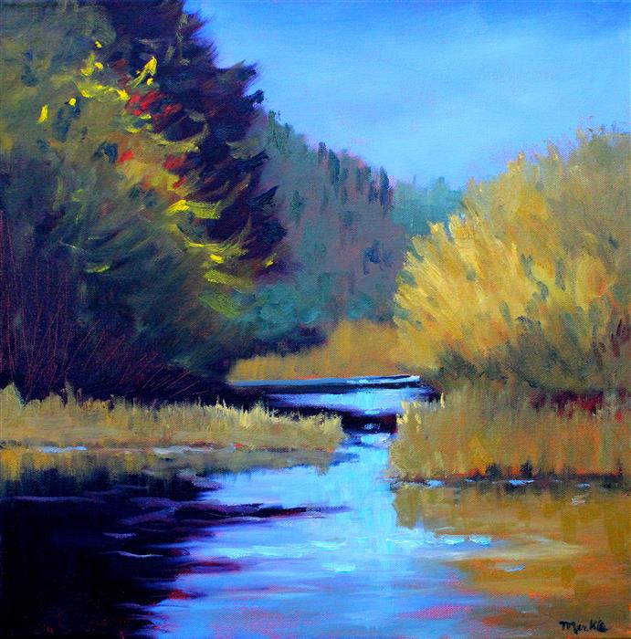 Discover Original Art by Nancy Merkle | On the River oil painting | Art for Sale Online at UGallery