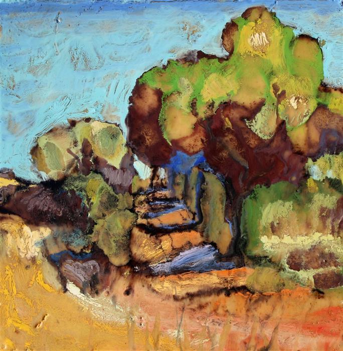 Discover Original Art by James Hartman   Hayward Shore Road encaustic artwork   Art for Sale Online at UGallery