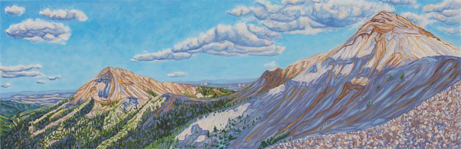 Discover Original Art by Crystal DiPietro | Mountains and Skyshadows oil painting | Art for Sale Online at UGallery