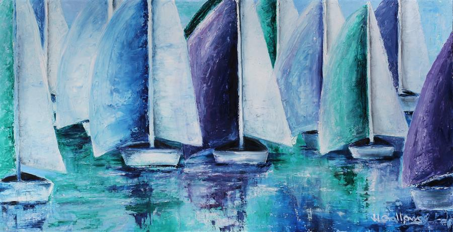 Discover Original Art by JJ Galloway | Full Sails oil painting | Art for Sale Online at UGallery