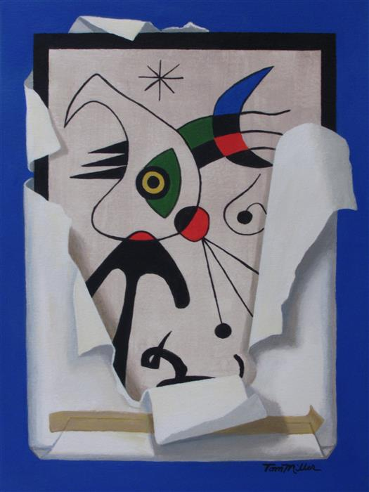 Discover Original Art by Tom Miller   Miro's Surprise acrylic painting   Art for Sale Online at UGallery