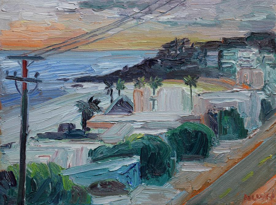 Discover Original Art by John Kilduff   Looking North from Broad Beach oil painting   Art for Sale Online at UGallery
