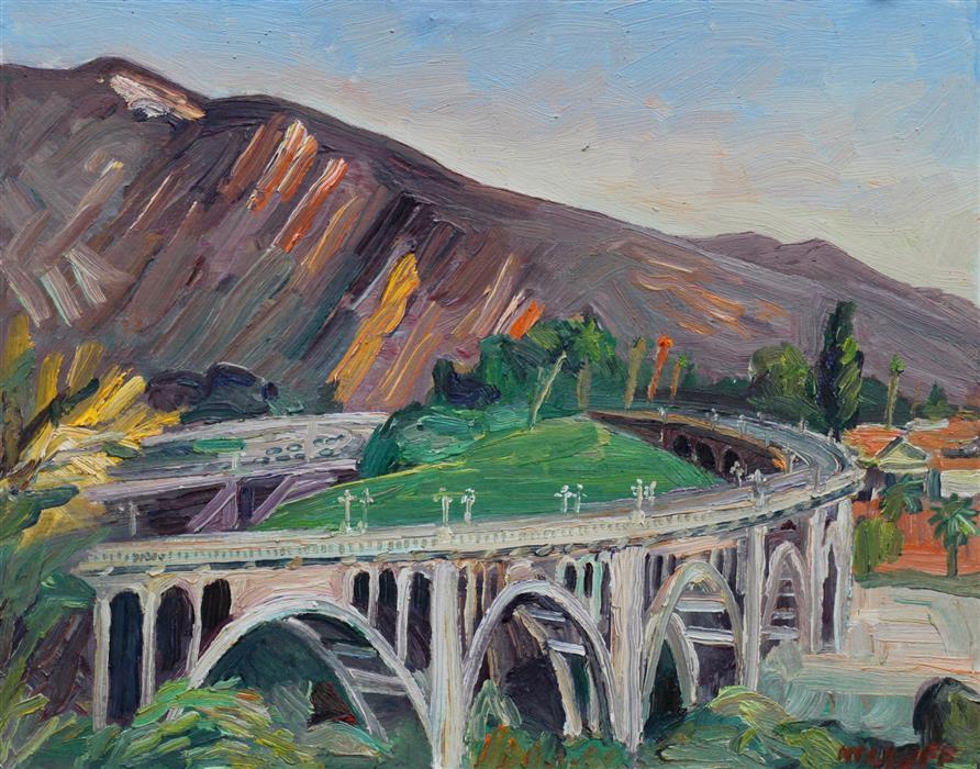 Discover Original Art by John Kilduff   Colorado Street Bridge #2 oil painting   Art for Sale Online at UGallery