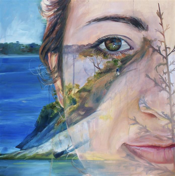 Discover Original Art by Abigail Drapkin | Self-Portrait in Memory oil painting | Art for Sale Online at UGallery