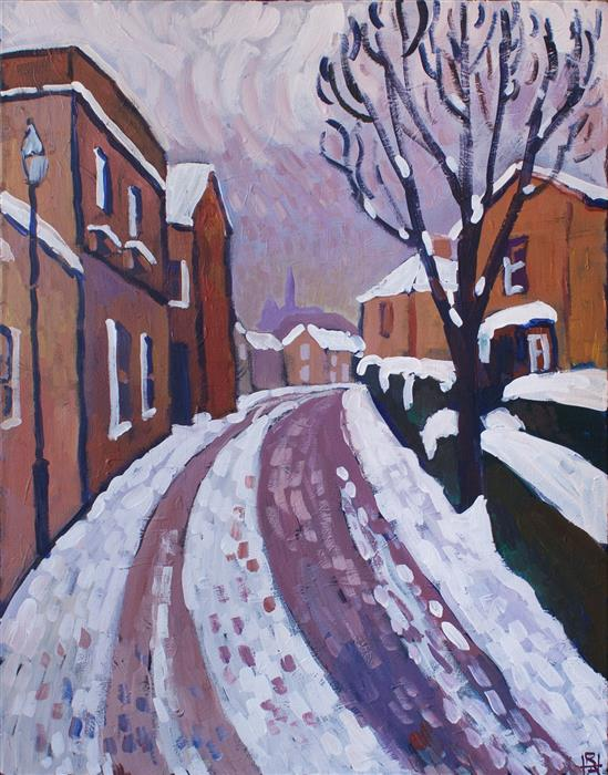 Discover Original Art by Robert Hofherr | A Winter's Eve acrylic painting | Art for Sale Online at UGallery