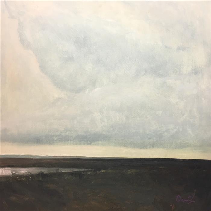 Discover Original Art by Daniel Harris | Sage Reservoir oil painting | Art for Sale Online at UGallery