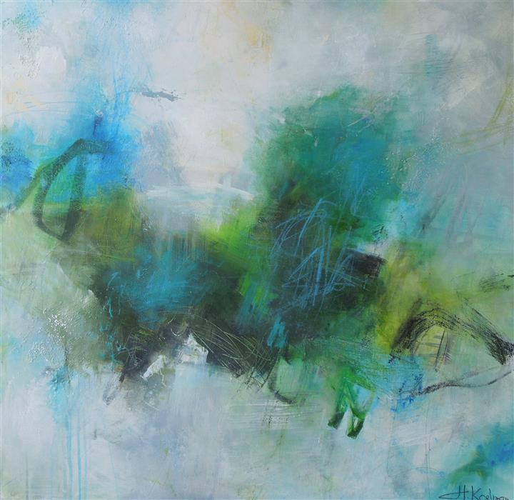 Discover Original Art by Hilma Koelman | Summer Rain acrylic painting | Art for Sale Online at UGallery