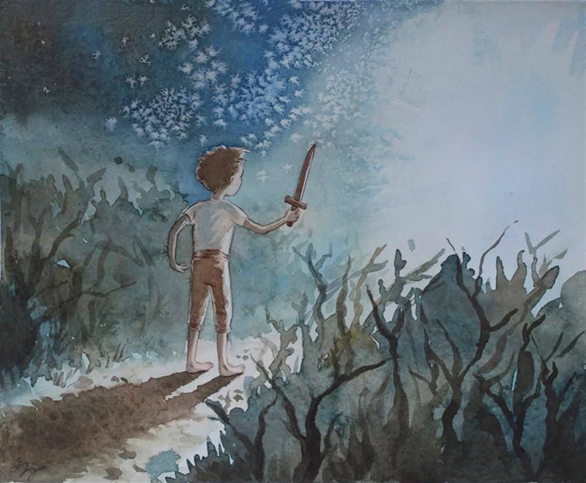 Discover Original Art by Chamisa Kellogg | The Landing watercolor painting | Art for Sale Online at UGallery