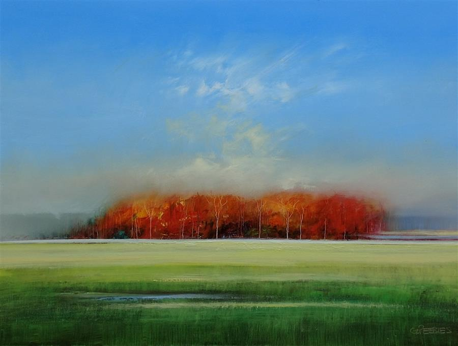 Discover Original Art by George Peebles | New Property oil painting | Art for Sale Online at UGallery